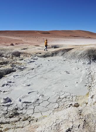 avaroa: Bolivia, Potosi Departmant, Sur Lipez Province, Eduardo Avaroa Andean Fauna National Reserve, Landscape of the Geisers Sol de Manana.