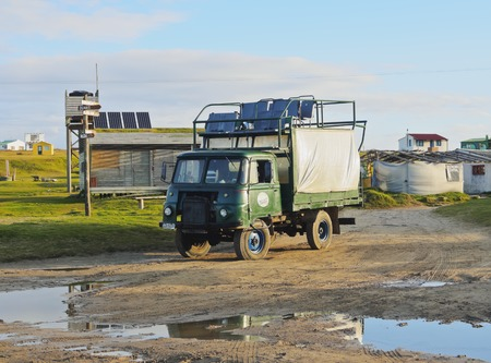 rocha: Uruguay, Rocha Department, Cabo Polonio, Special trucks are used to get to the hamlet.