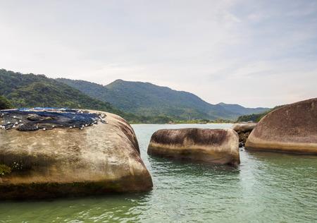 Brazil, State of Rio de Janeiro, Paraty Zone, Trinidade, View of the Cachadaco Natural Pool.