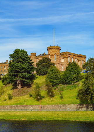ness river: UK, Scotland, View of the Inverness Castle.