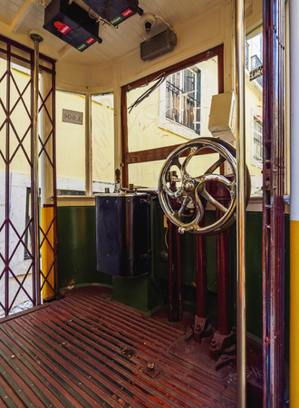 Portugal, Lisbon, View of the Lavra Funicular.