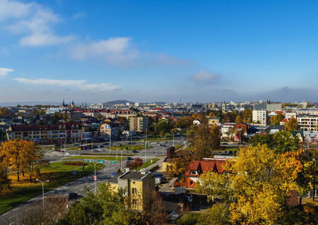 Poland, Swietokrzyskie Voivodeship, Kielce Cityscape