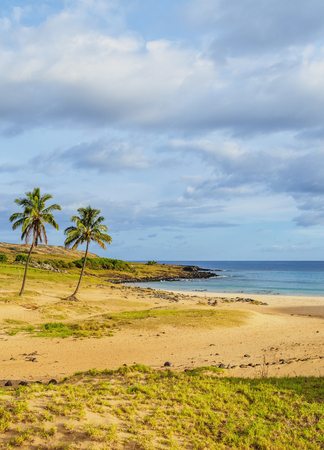 shorelines: Anakena Beach, Easter Island, Chile