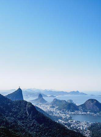 Cityscape seen from the Tijuca Forest National Park, Rio de Janeiro, Brazil