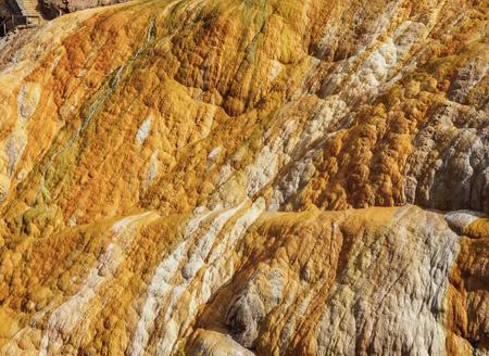 Hot springs in Puente del Inca, Central Andes, Mendoza Province, Argentina