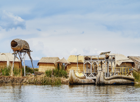 Uros Floating Islands, Lake Titicaca, Puno Region, Peru