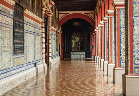 Cloister in Convent of Santo Domingo, Lima, Peru Stock Photo