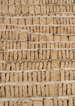 Huaca Pucllana Pyramid, detailed view, Miraflores District, Lima, Peru Stock Photo