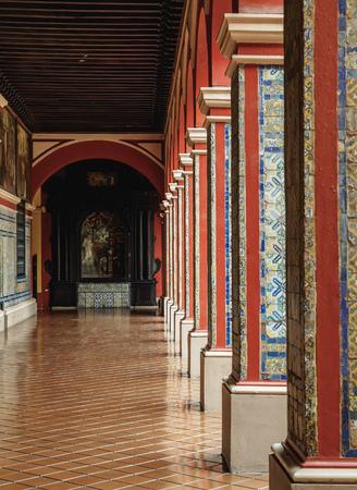 Cloister in Convent of Santo Domingo, Lima, Peru Editorial