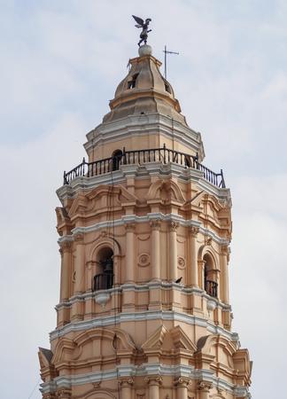 Nuestra Senora del Rosario Church Tower, Convent of Santo Domingo, Lima, Peru Stock Photo