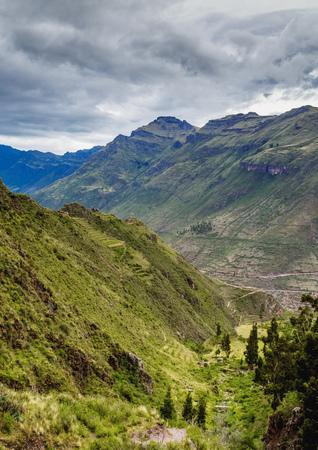 Inca Terraces, Pisac, Sacred Valley, Cusco Region, Peru