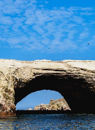 페루 이카 지역 파라 카스 (Paracas) 근처의 Ballestas Islands
