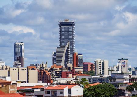 Skyline of Santa Cruz de la Sierra, Bolivia Editorial