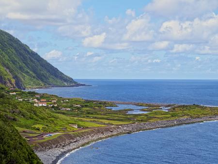 Faja dos Cubres, elevated view, Sao Jorge Island, Azores, Portugal Standard-Bild