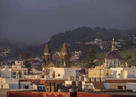 San Cristobal de La Laguna, elevated view, Tenerife Island, Canary Islands, Spain 写真素材