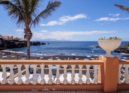 Beach in Puerto de Santiago, Tenerife Island, Canary Islands, Spain Stock Photo
