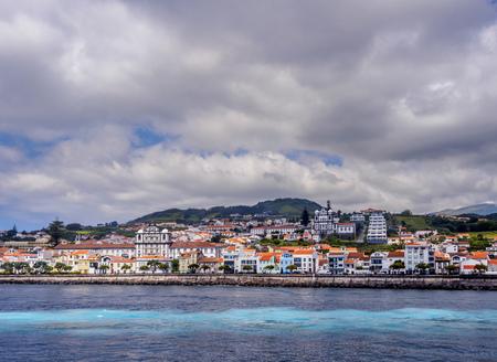 Horta Skyline, Faial Island, Azores, Portugal 스톡 콘텐츠