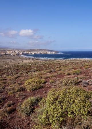 Landscape of El Medano, Tenerife Island, Canary Islands, Spain Stock Photo