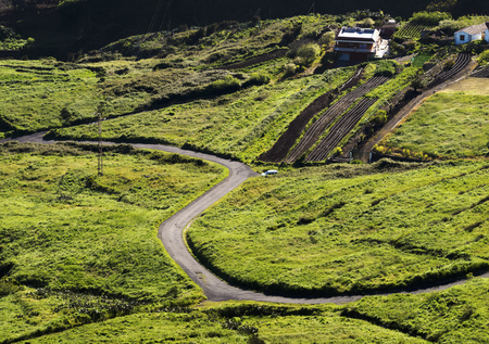 Buenavista del Norte, view of the from the Mirador Altos de Baracan, Tenerife Island, Canary Islands, Spain