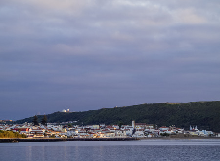 View towards Praia da Vitoria, Terceira Island, Azores, Portugal