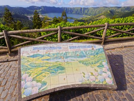 Lagoa das Sete Cidades view point, Sao Miguel Island, Azores, Portugal