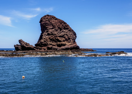 Roque Bermejo, rock, Anaga Rural Park, Tenerife Island, Canary Islands, Spain Stock Photo