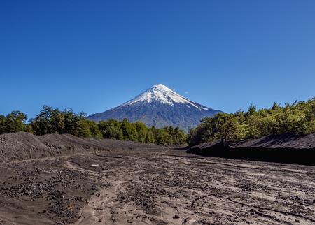 Volcán Osorno, Petrohue, Provincia de Llanquihue, Región de Los Lagos, Chile Foto de archivo