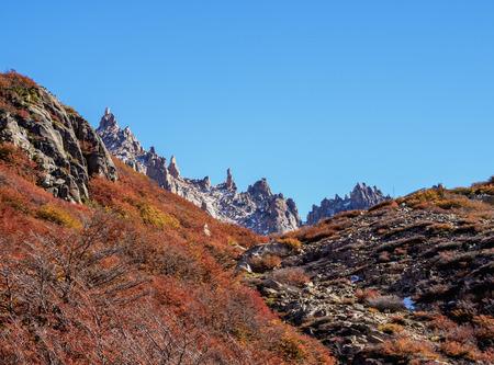 View towards the Cerro Catedral, Nahuel Huapi National Park, Rio Negro Province, Argentina