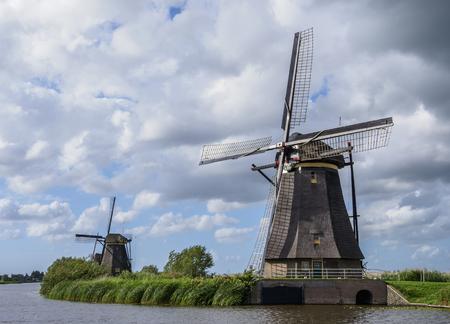Windmills in Kinderdijk, Site, South Holland, The Netherlands