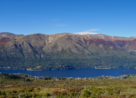 Gutierrez Lake, elevated view, Nahuel Huapi National Park, Rio Negro Province, Argentina
