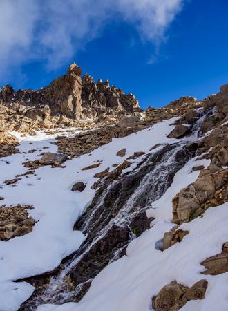 Cerro Melisa and Waterfall, Nahuel Huapi National Park, Rio Negro Province, Argentina