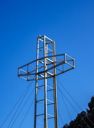 Cross on top of Philippi Hill, Puerto Varas, Llanquihue Province, Los Lagos Region, Chile