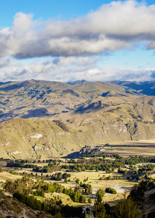 Landscape of the mountains in Pujili Canton, Cotopaxi Province, Ecuador