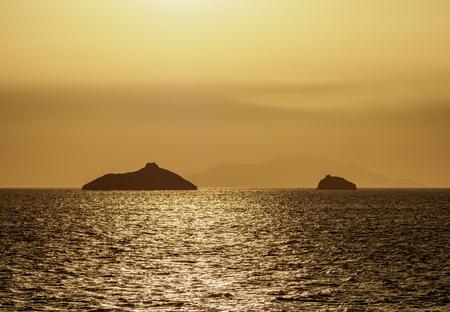 Sunset over Guy Fawkes Island, Galapagos, Ecuador