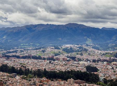 Cuenca Cityscape from Turi View Point, Azuay Province, Ecuador