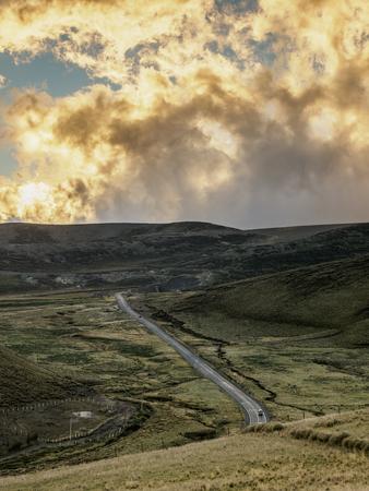 Road near Chimborazo Volcano, Chimborazo Province, Ecuador