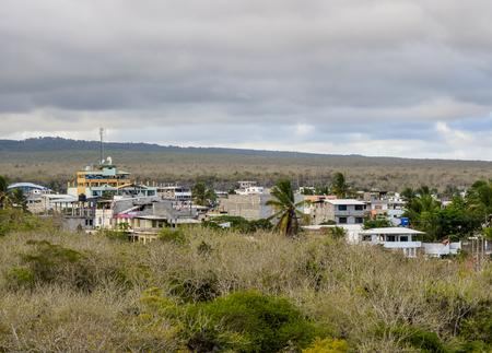 Puerto Ayora, elevated view, Santa Cruz or Indefatigable Island, Galapagos, Ecuador