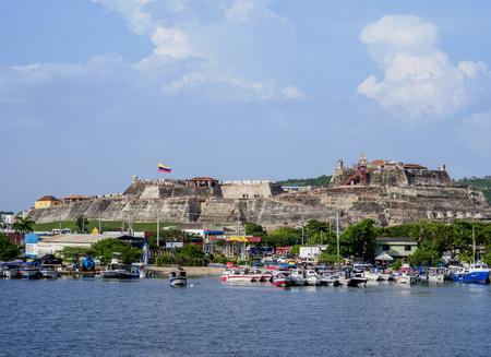 San Felipe Castle, Cartagena, Bolivar Department, Colombia Imagens