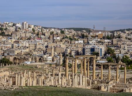 Jerash Ruins, Jerash Governorate, Jordan 版權商用圖片