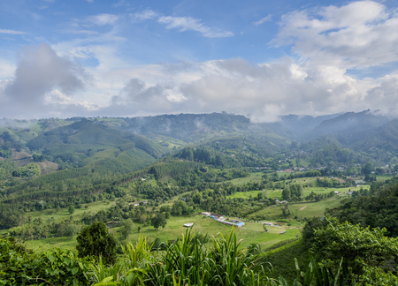 Landscape of Salento, Quindio Department, Colombia