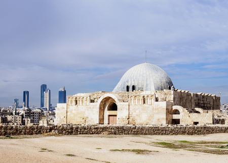 Umayyad Palace, Amman Citadel, Amman Governorate, Jordan 版權商用圖片