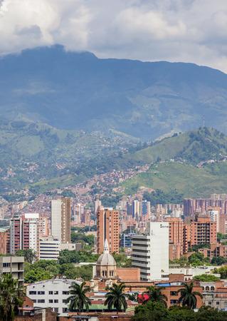 Medellin Skyline, Antioquia Department, Colombia Stock Photo