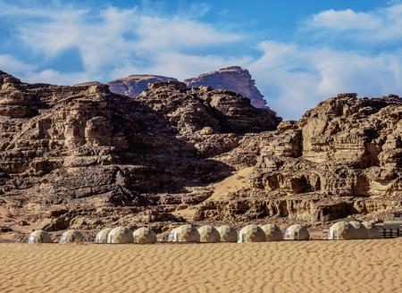 Sun City Camp, Wadi Rum, Aqaba Governorate, Jordan Stock fotó