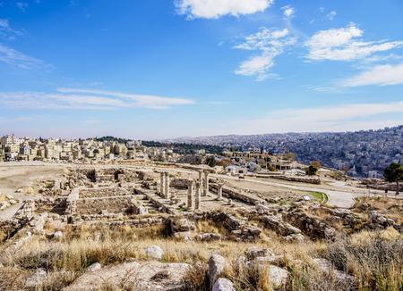 Amman Citadel, Amman Governorate, Jordan 版權商用圖片