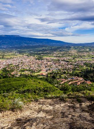 Villa de Leyva, elevated view, Boyaca Department, Colombia Foto de archivo - 119061444