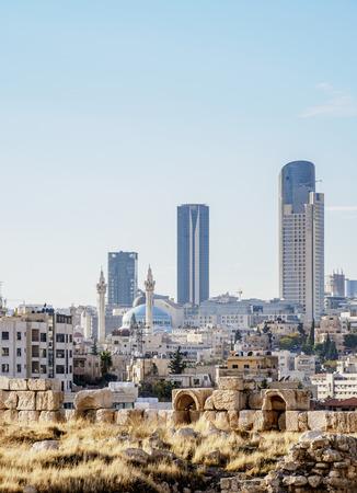 Cityscape seen from Citadel Hill, Amman, Amman Governorate, Jordan
