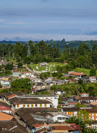 Salento, elevated view, Quindio Department, Colombia
