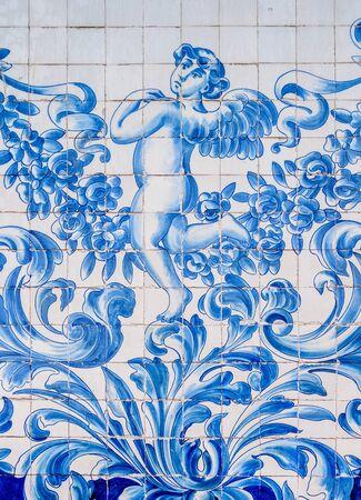 Azulejos at Carmo Church, Porto, Portugal Stock Photo