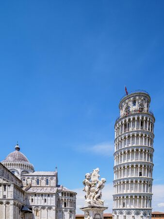 Cathedral and Leaning Tower, Piazza dei Miracoli, Pisa, Tuscany, Italy