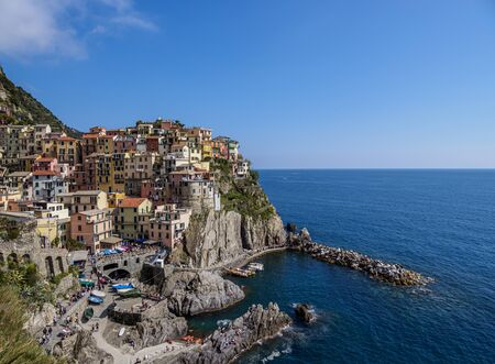 Manarola Village, elevated view, Cinque Terre